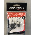 Tete plmobée Scratch Tackle FOOTBALL CLASSIC JIG HEAD