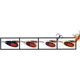 cuiller Mepps Black Fury taille 3 Orange mouche