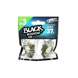 Tête plombée fiiish black minnow 120 deep 37g (x2)