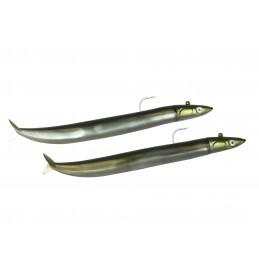 Leurre souple Fiiish Crazy sand Eel DOUBLE COMBO OFF SHORE 12cm / 15g