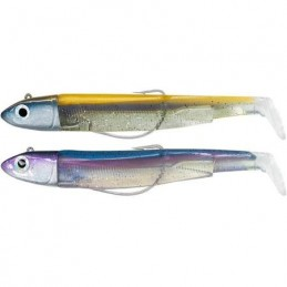 Leurre souple fiiish double combo black minnow 90 off shore 9cm 10g