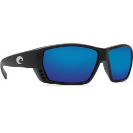 Lunettes polarisantes COSTA Tuna Alley Mat Black 580G bleu Mirror