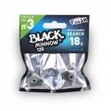 Tête plombée fiiish black minnow 120 Search 18g (x2)