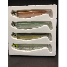 Fiiish Kit 4 Combos Black Minnow Off Shore European Colors Pack - 12cm - 12g - Multicouleurs