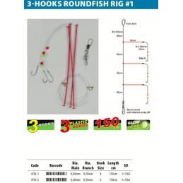 Montage Mer spro HOOKS ROUNDFISH RIG