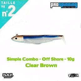 Black Minnow Fiiish 90 - Combos (Simple Combo - Off Shore - 10g - Clear Brown)