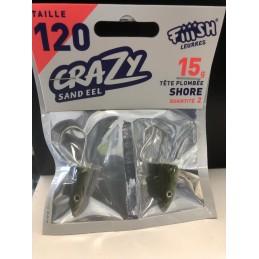 Tête plombée fiiish crazy sand eel shore 15g (x2)