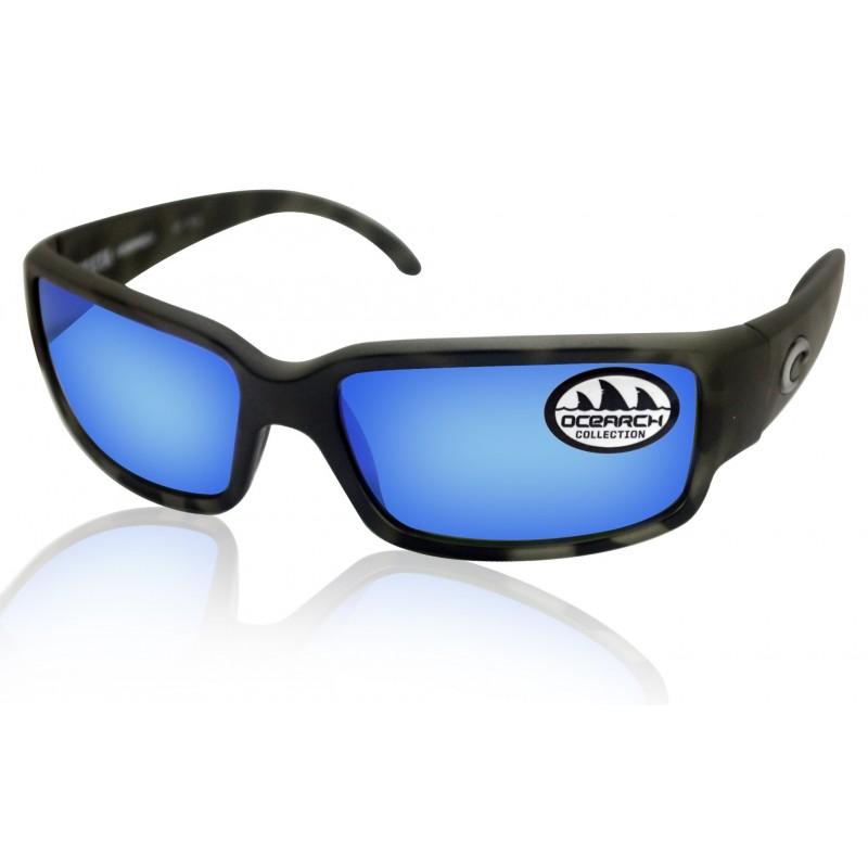 Lunettes polarisantes COSTA Tuna Alley Mat Black 580G bleu Mirror