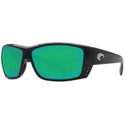 Lunettes polarisantes COSTA cat cay black 580P green mirror